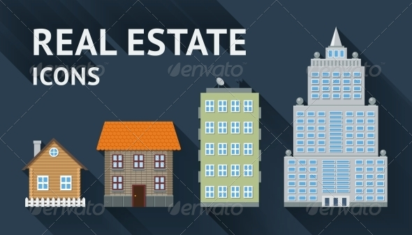 GraphicRiver Real Estate Icons Set 6236533