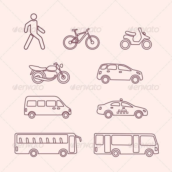 GraphicRiver Transportation Icons 6236606