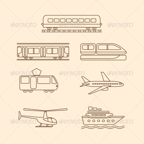 GraphicRiver Transportation Icons 6236614