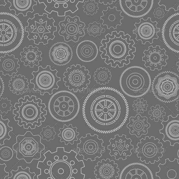 GraphicRiver Dark Seamless Gear Wheels Pattern 6236619