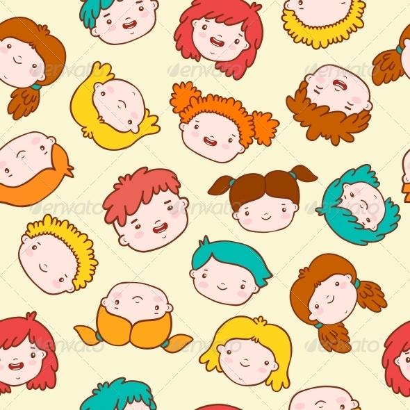 GraphicRiver Doodle Kids Background 6236643
