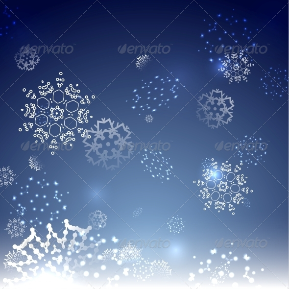 GraphicRiver Blue Snowy Magic Christmas Background 6236694