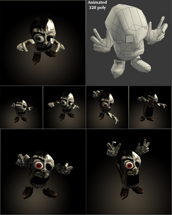 mini Zombie Low Poly Animated - 3DOcean Item for Sale