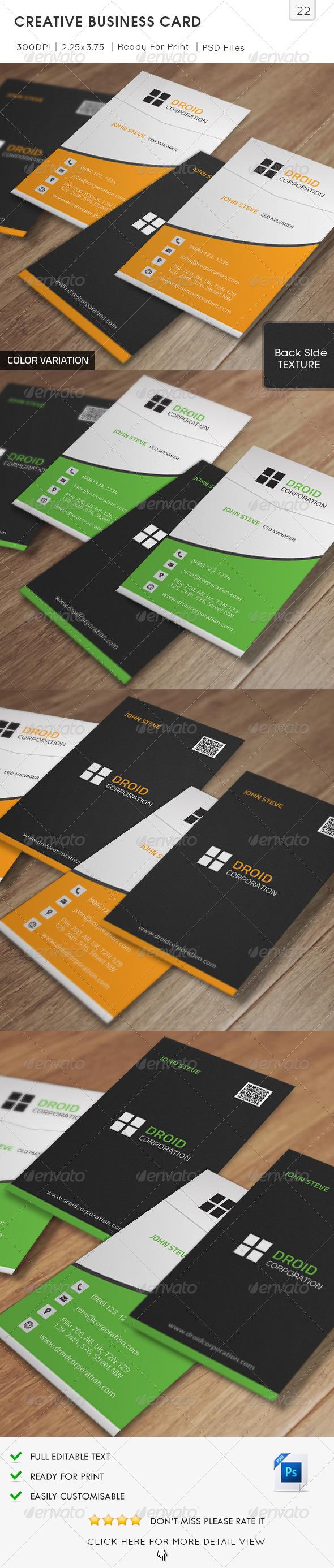 GraphicRiver Creative Business Card v22 6237005