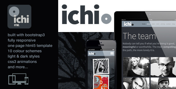 ThemeForest Ichi One Page Parallax Retina Html5 Template 6237276
