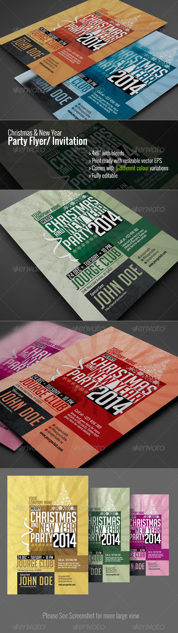 GraphicRiver Christmas & New Year Party Flyer Invitation 6237404