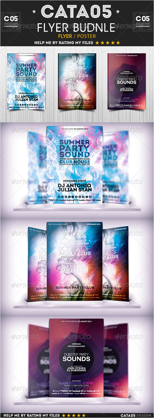 GraphicRiver Flyer Bundle Pack 4 6237920