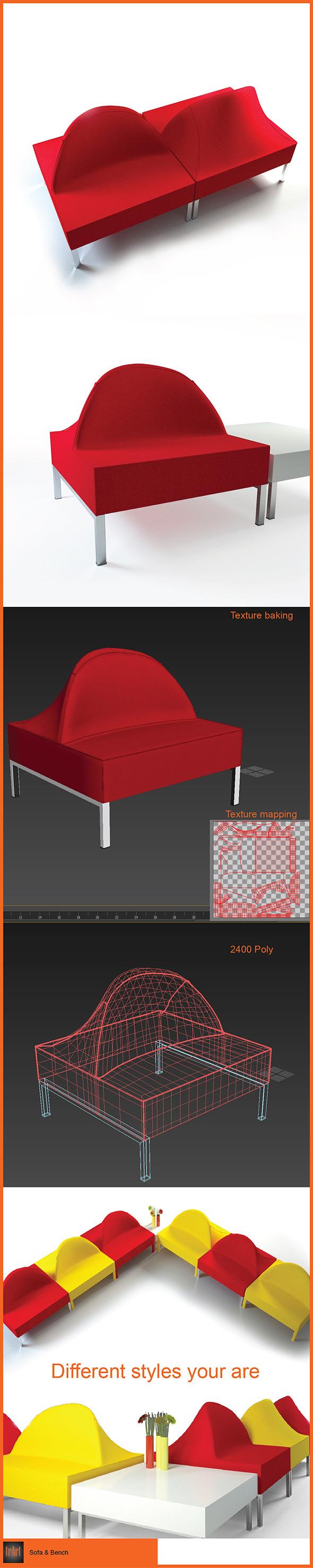 3DOcean Sofa Bench 6237949