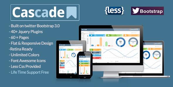 Cascade Flat Responsive Bootstrap Admin Template