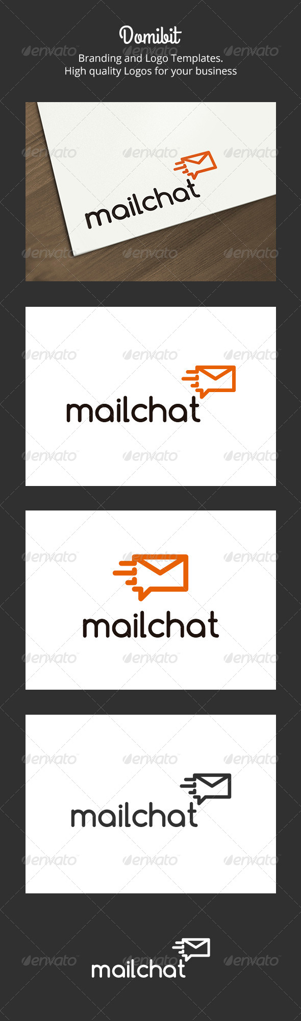 GraphicRiver Mail Chat Logo 6238416