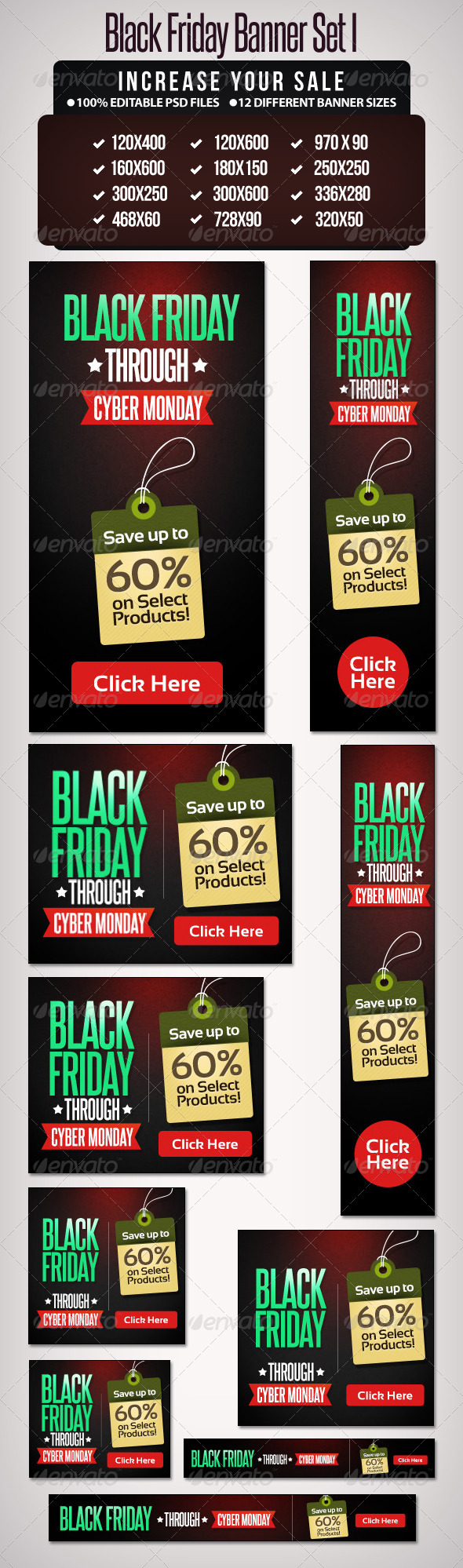 GraphicRiver Black Friday Banner Set 1 6238443