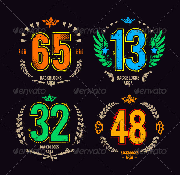 GraphicRiver Grunge Gangster Lucky Numbers 6238621