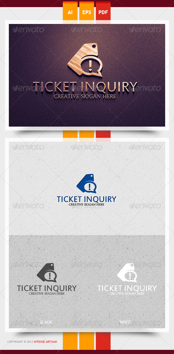 GraphicRiver Ticket Inquiry Logo Template 6239220