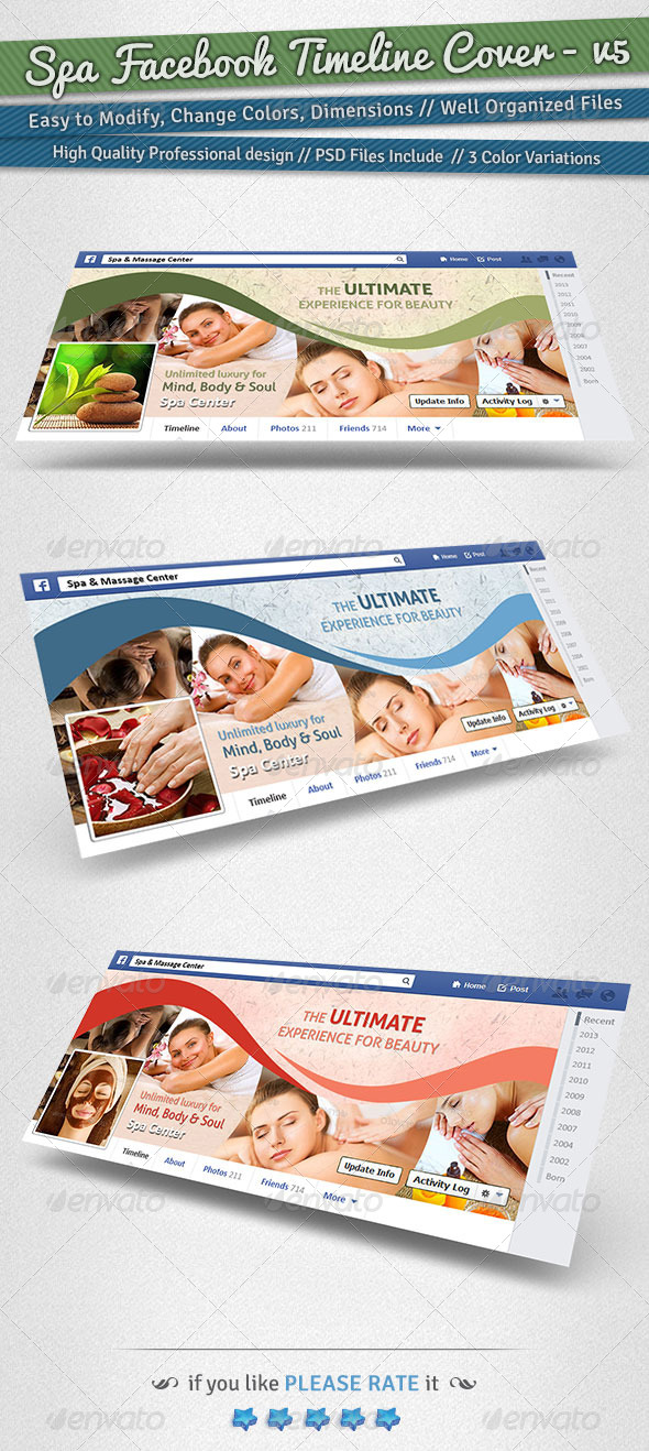 GraphicRiver Spa Facebook Timeline Cover Volume 5 6239721