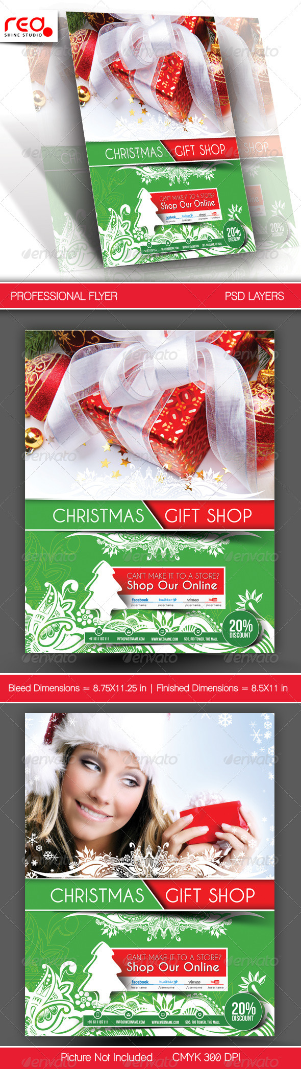 GraphicRiver Gift Shop Flyer Poster Template 3 6239779