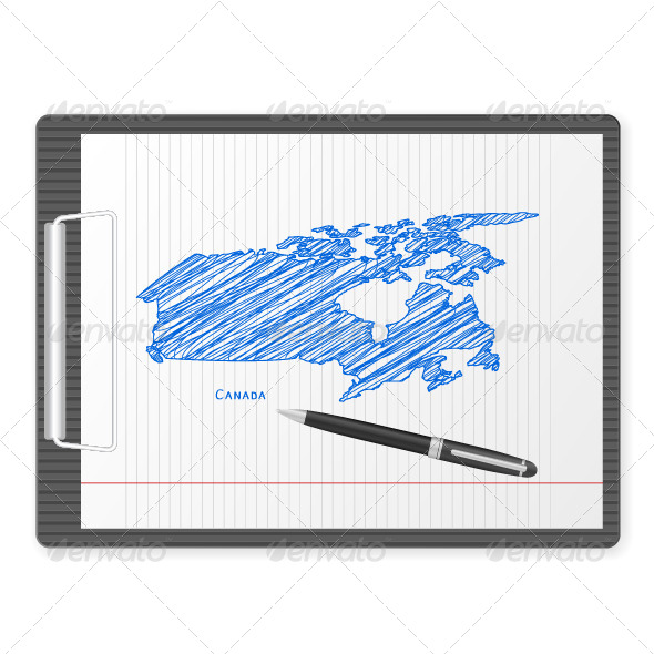 GraphicRiver Clipboard Canada Map 6239782