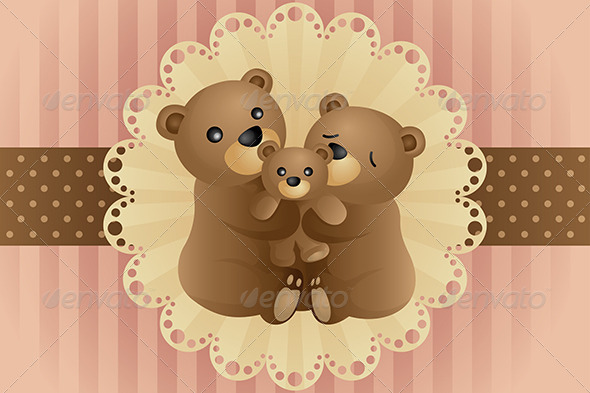 GraphicRiver Bear Family Hugging 6239909