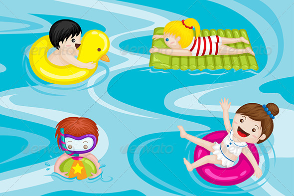 GraphicRiver Kids in Swimming Pool 6239915