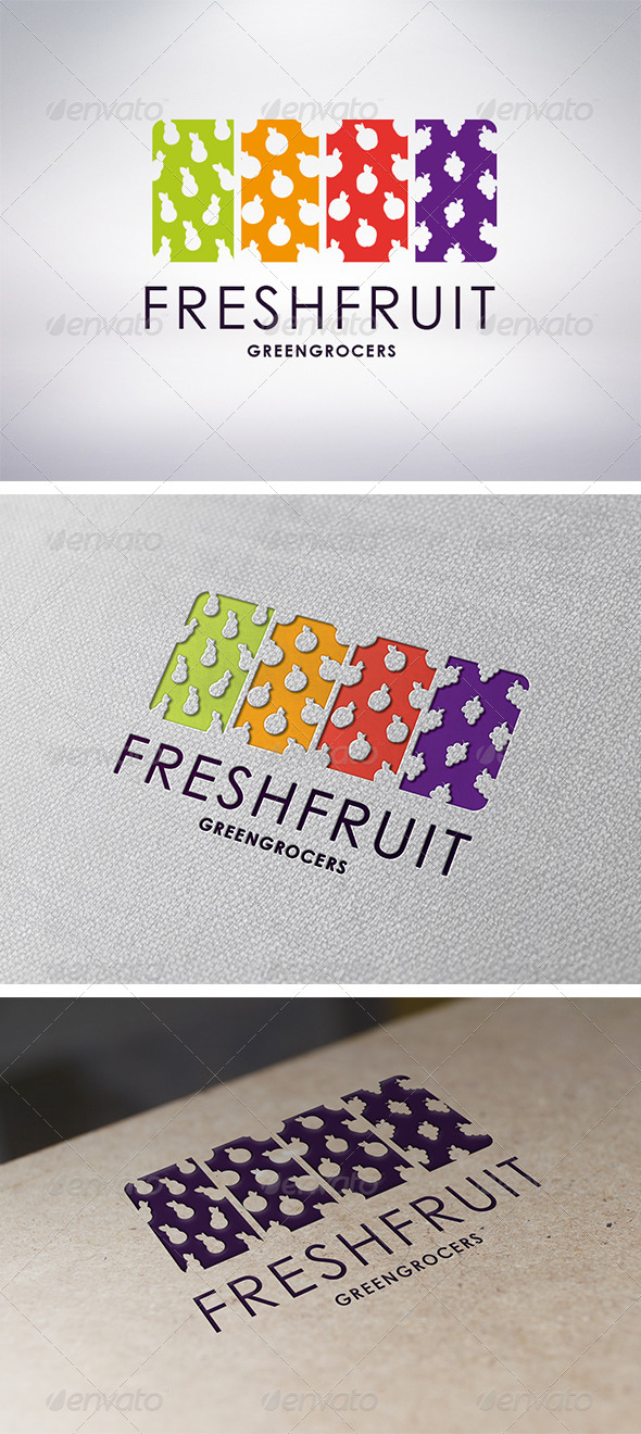 GraphicRiver Fresh Fruit Logo Template 6239945
