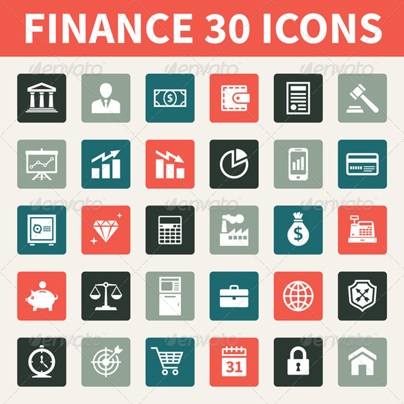 Finance 30 Icons - Business Icons