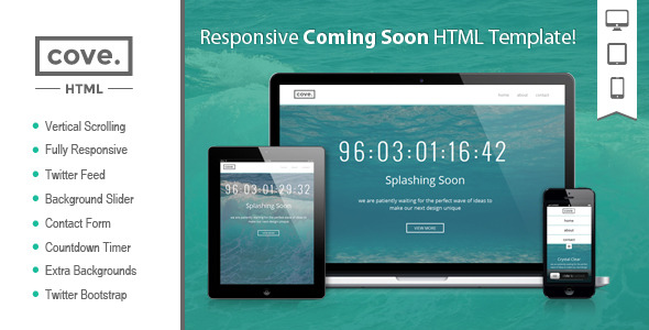 Cove - Responsive Coming Soon HTML Template