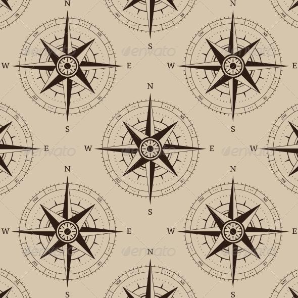 GraphicRiver Navigation Compass Seamless 6240052