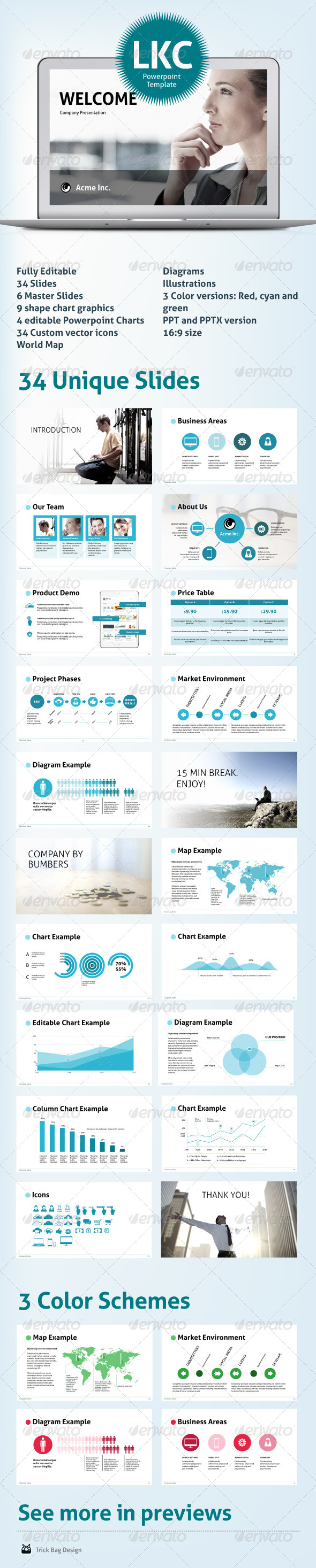 GraphicRiver LKC Clean Corporate Powerpoint Presentation 6208467