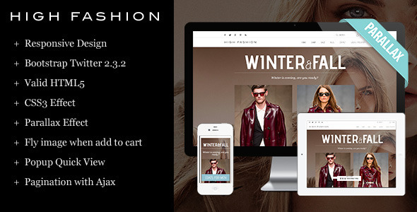 High Fashion Responsive HTML Theme - Parallax