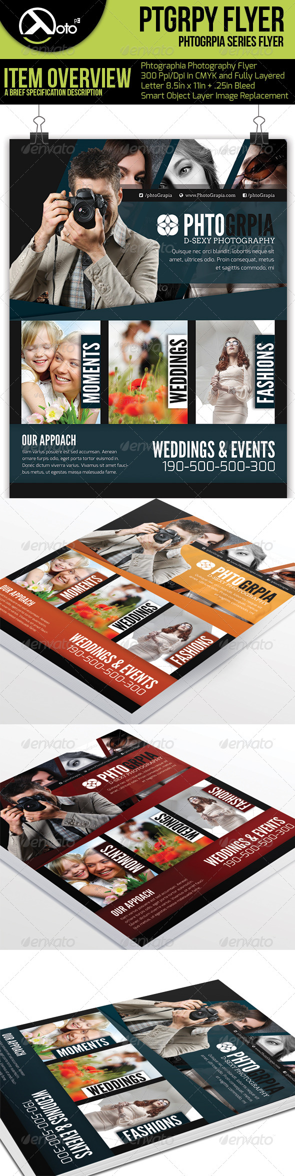 GraphicRiver Photographia Photography Service Flyer 6241119