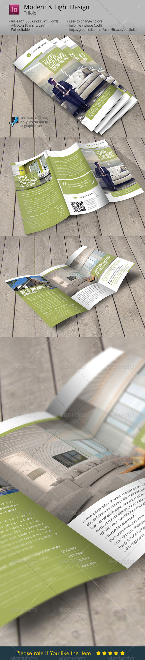 GraphicRiver Modern and Light Design Indesign Template Brochure 6241124