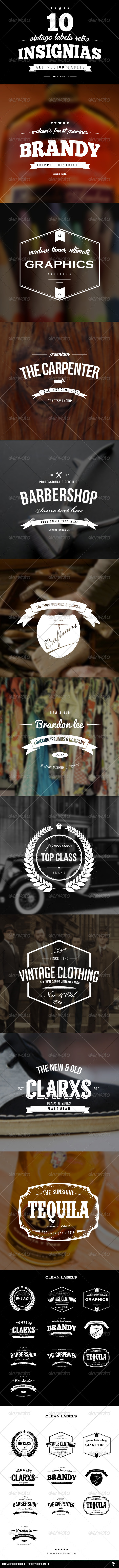 GraphicRiver Vintage Labels Retro Insignias 6234774