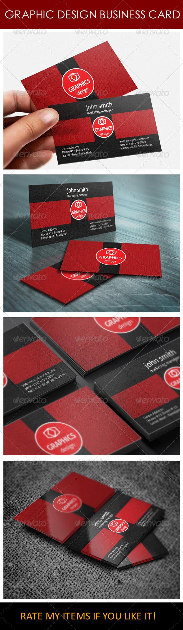 GraphicRiver Graphic Design Business Card 6241400