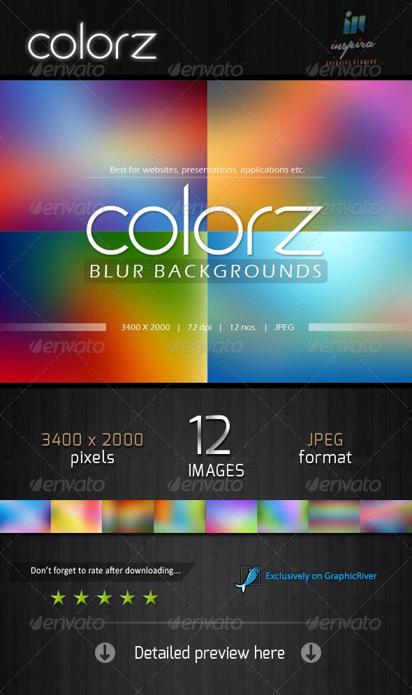 GraphicRiver Colorz Blur Backgrounds 6241620