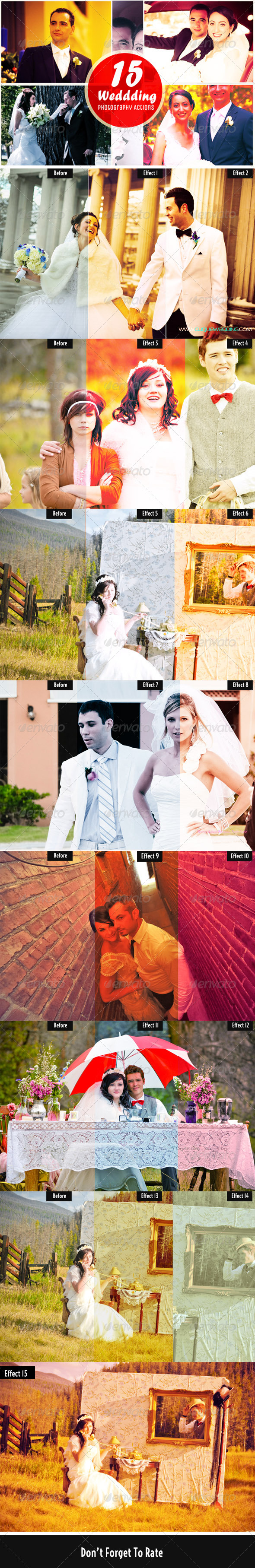 GraphicRiver 15 Wedding Photography Actions 6227475