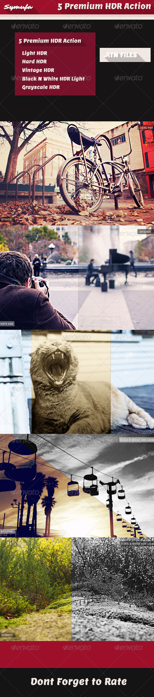 GraphicRiver Premium HDR Photoshop Action Effects 6241796