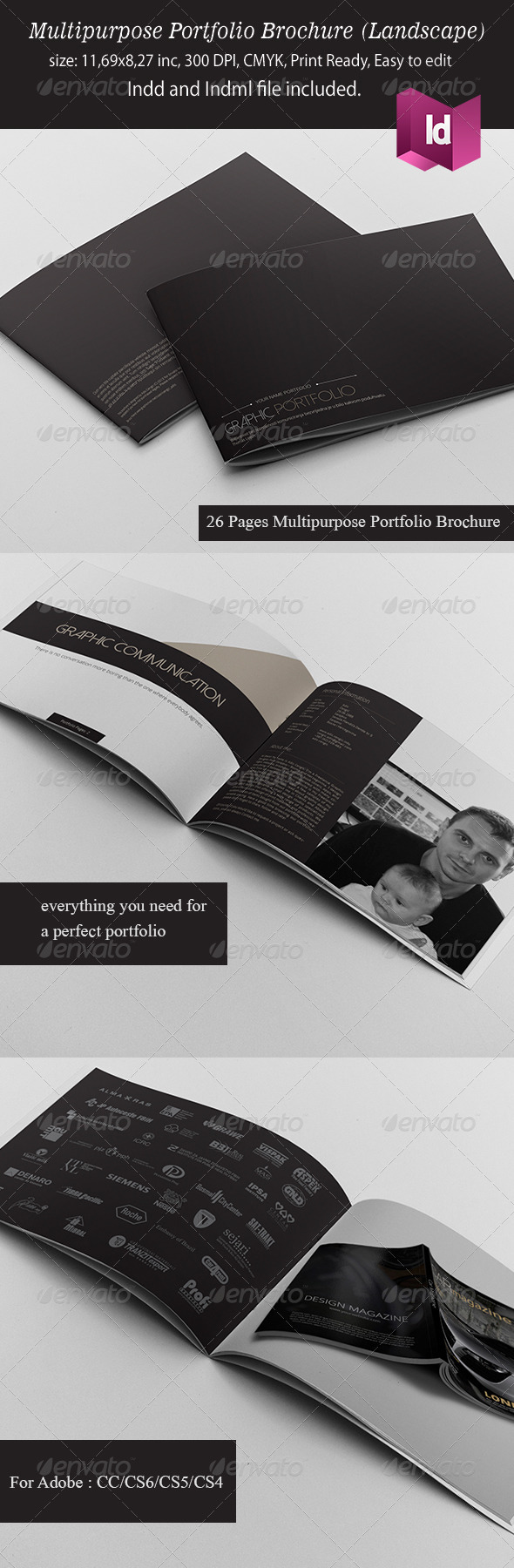 GraphicRiver Multipurpose Portfolio Brochure Landscape Version 6241914