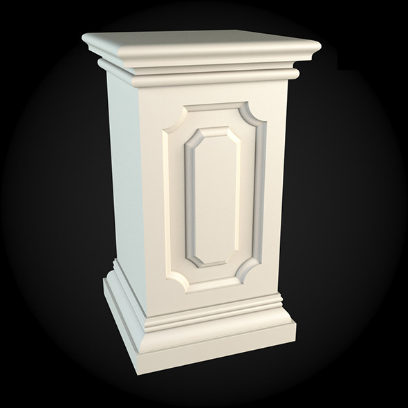 Pedestal 001 - 3DOcean Item for Sale