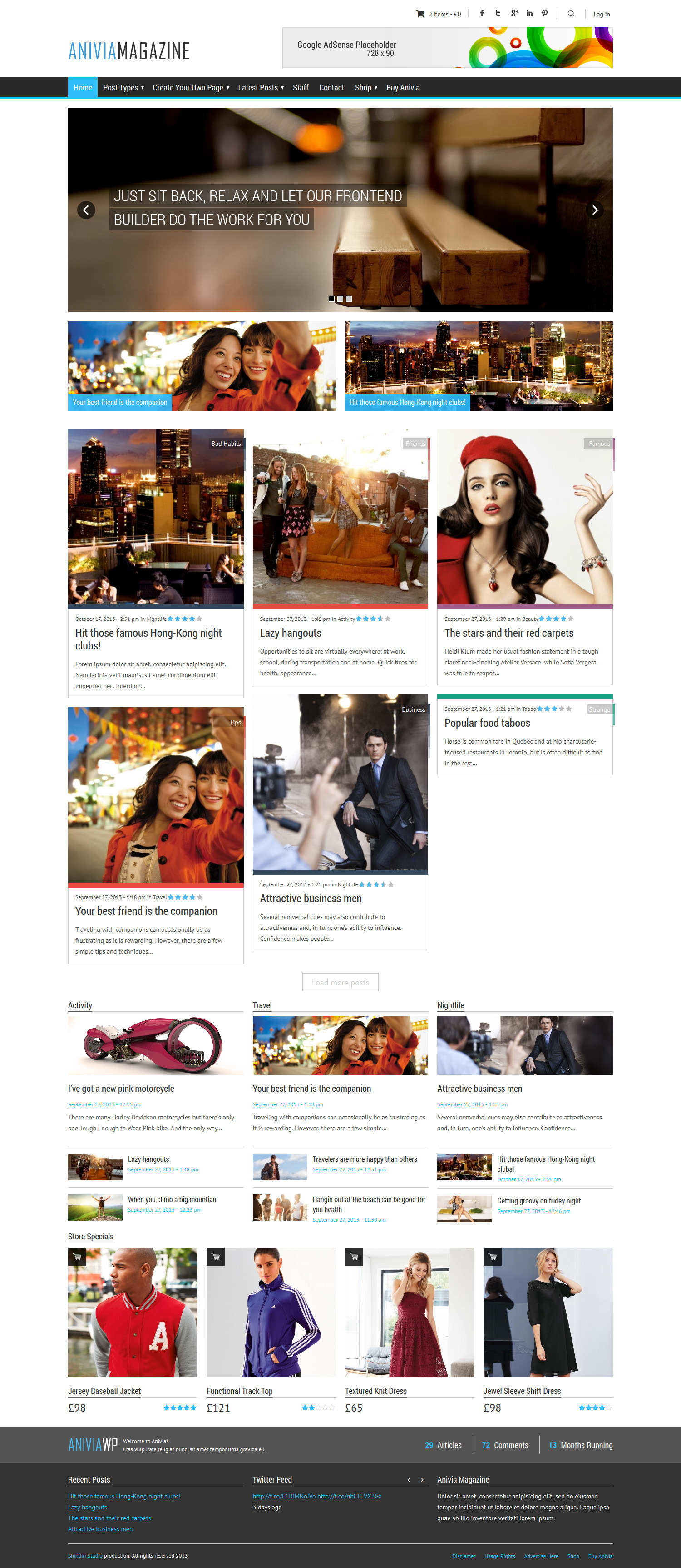 Anivia - News, Magazine, Blog WordPress Template