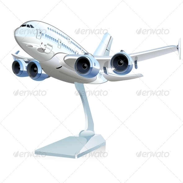 GraphicRiver Vector Cartoon Airliner 6242068
