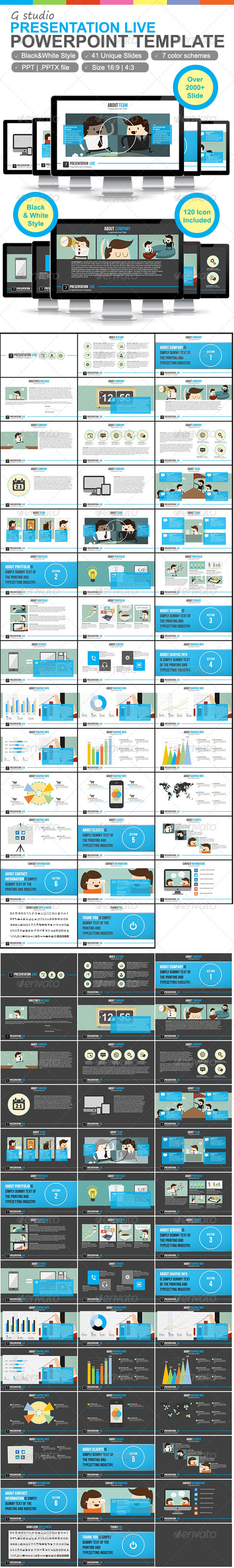 GraphicRiver Gstudio Presentation Live Powerpoint Template 6242541