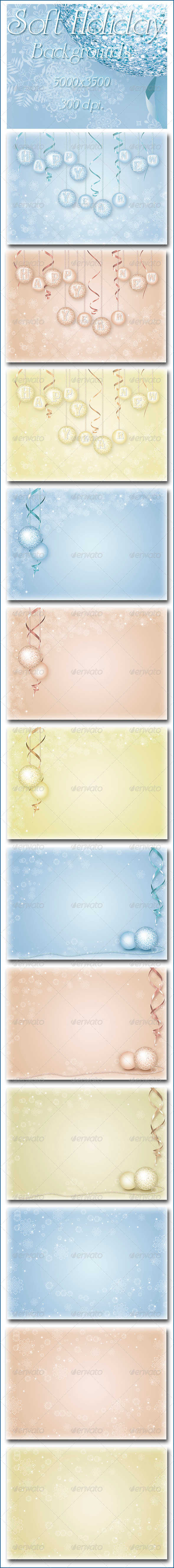GraphicRiver Soft Holiday Backgrounds 6202719