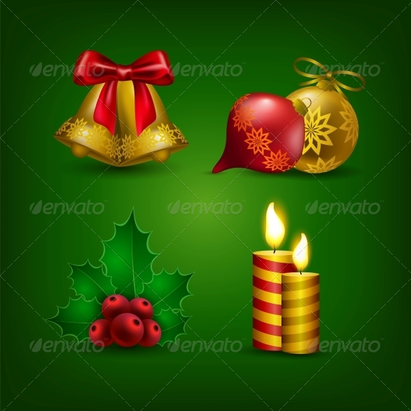 GraphicRiver Collection of Colorful Christmas Ornaments 6242621