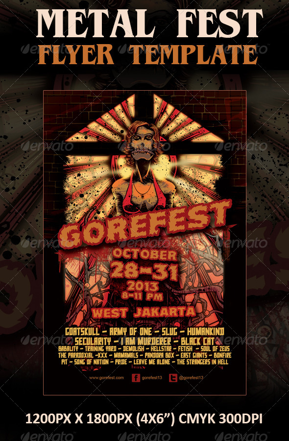 GraphicRiver Horror Metal Fest Flyer Template 6037040