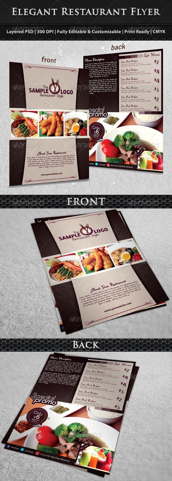 GraphicRiver Modern & Elegant Restaurant Food Menu Flyer 6242721