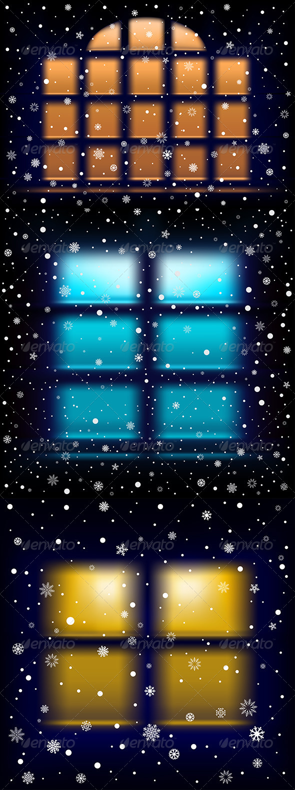GraphicRiver Snow Night Window 6242740