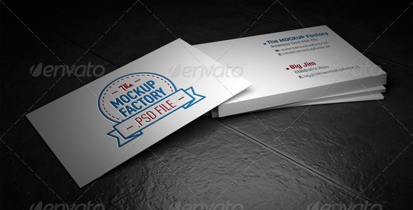 GraphicRiver Photorealistic Business Card Mockup 6209438