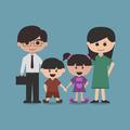 happy family cartoon character