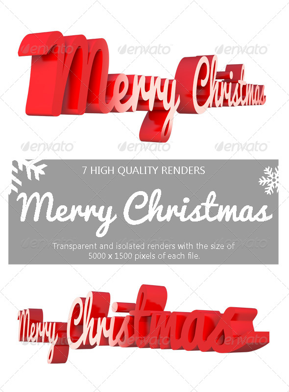 GraphicRiver Merry Christmas 3D 6243107