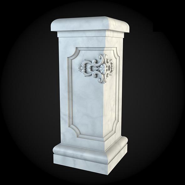 Pedestal 019 - 3DOcean Item for Sale