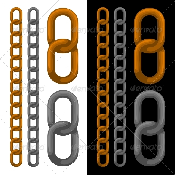 GraphicRiver Seamless Golden and Silver Chain 6243538